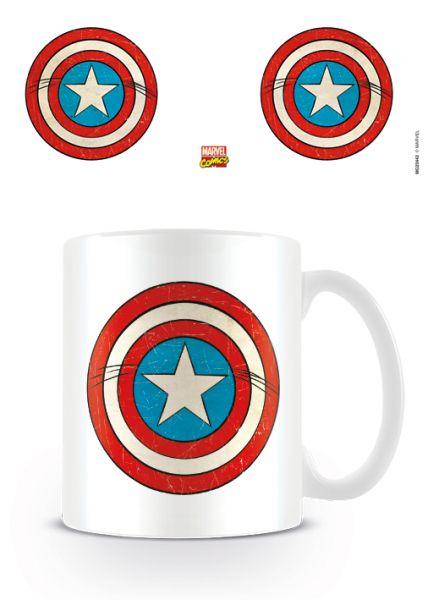 Marvel: Retro (Captain America Schild), Tasse