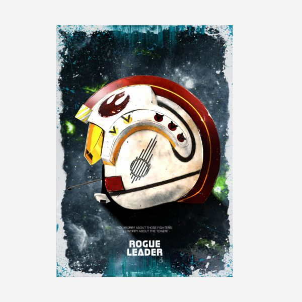 Rogue Leader Helm Star Wars – Metall Poster