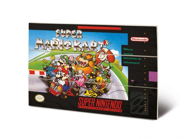 Super Mario Kart (Super Nintendo) Bild auf Holz