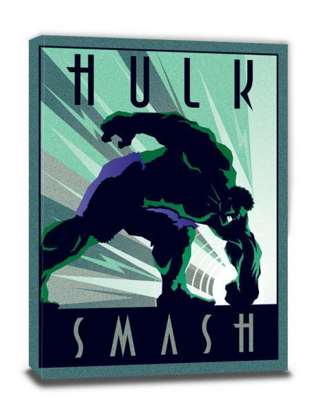 Marvel Deco (Hulk), Leinwanddruck