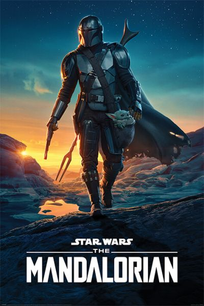 Mando Nightfall Maxi Poster Star Wars