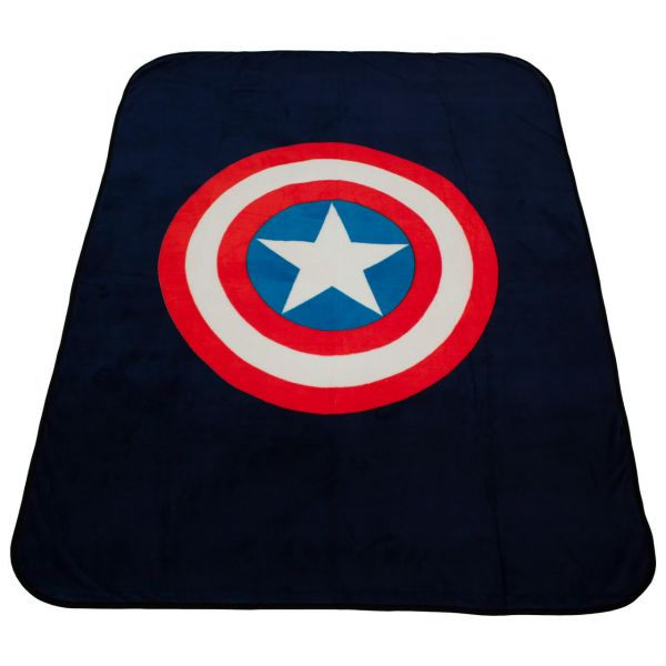 Captain America Avengers Fleece Decke Marvel