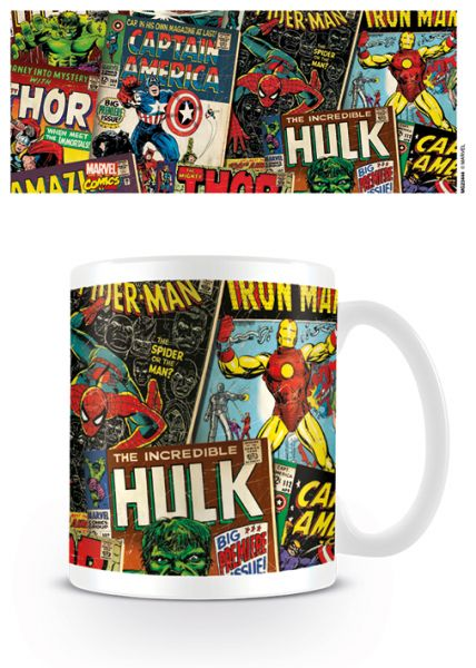 Retro Comic Covers Tasse Marvel