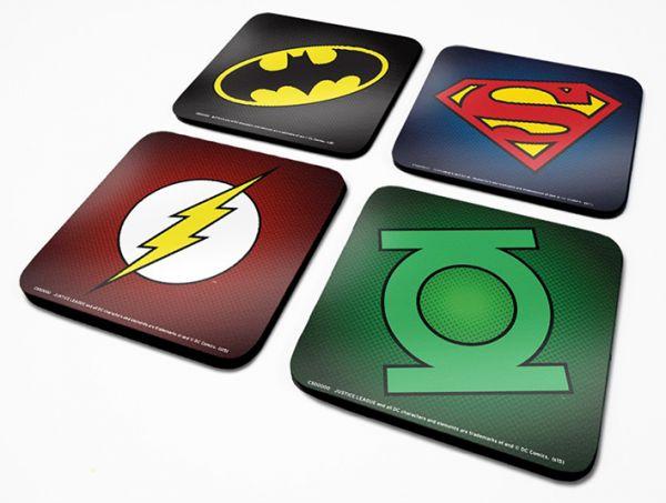 DC Originals (Symbole), Untersetzer Set, 4 Stück
