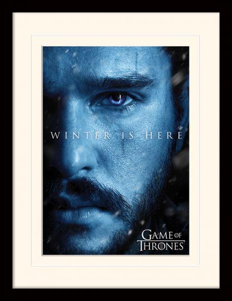 Jon Winter is here gerahmtes Bild Game of Thrones