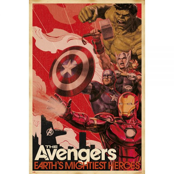 The Avengers Earth's Mightiest Heroes Maxi Poster Marvel