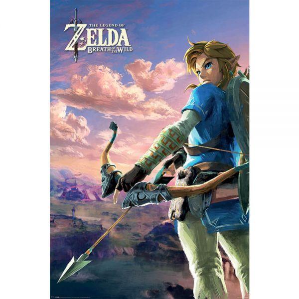 Breath of the Wild Hyrule Szene Maxi Poster The Legend of Zelda