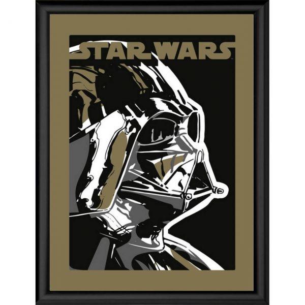 Darth Vader schwarz gerahmtes Bild Star Wars