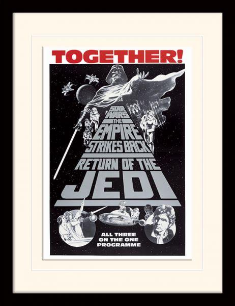 Star Wars: Trilogy Together, Gerahmt