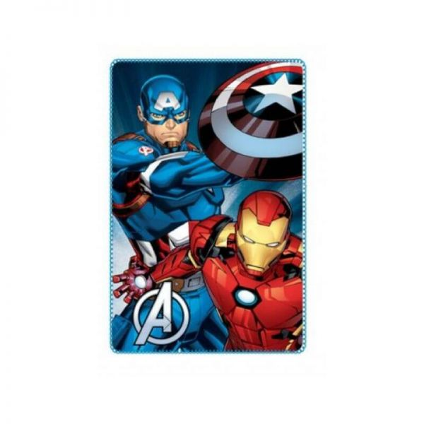 Avengers Captain America Iron Man Fleece Decke blau