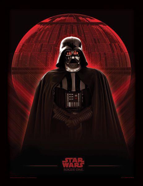 Darth Vader mit Todesstern, gerahmter Kunstdruck