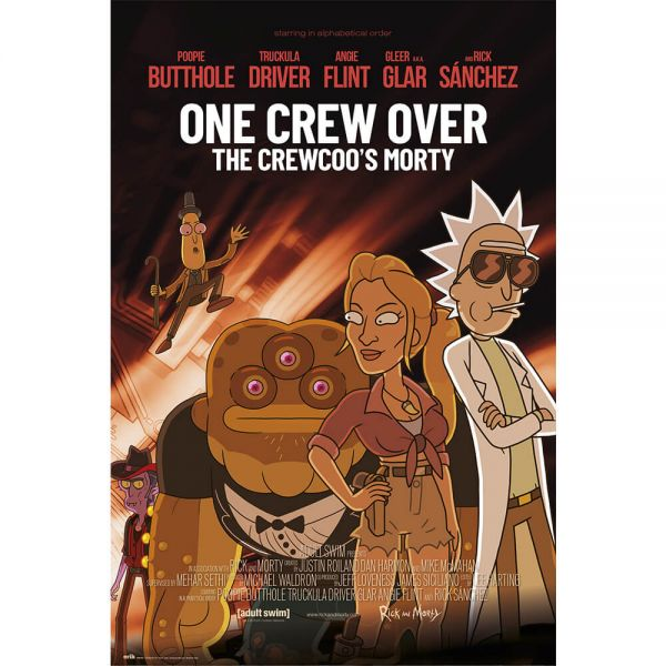 One Crew over Maxi Poster Rick and Morty
