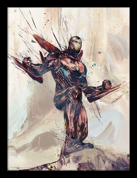 Iron Man Zeichnung Avengers Infinity War gerahmtes Bild Marvel